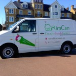 KimCan's sign written van