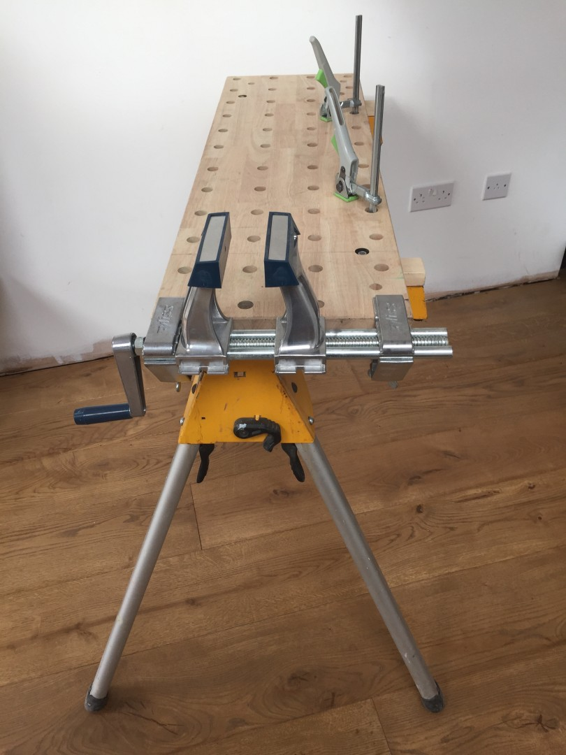 Dewalt Stand With A Walko Top Festool Clamps And A Zyliss
