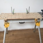 Dewalt Stand with a Walko top…Festool clamps and a Zyliss vice